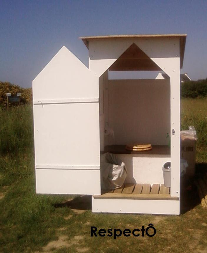 Cabine toilette sèche mobile autonome RespectÔ - Mariage ou petit événement